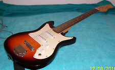 Marigold Harmony electric guitar, works nice, looks unplayed, has glue residue