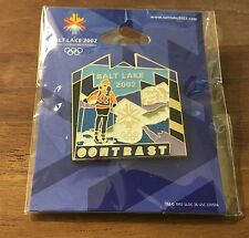 Contrast Salt Lake City 2002 Olympic Pin