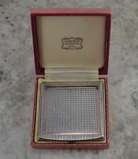 VINTAGE 1950s SOLID SILVER and ROSE GOLD LADIES POWDER  COMPACT - RAMSDEN & REOD