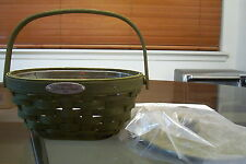 2008 Longaberger Olive Dresden Basket Set Mint