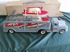 Vintage Buddy L Truck Boat Hauler with Box