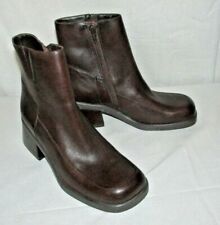Diba USA Barry Brown Genuine Leather Sz 6.5M Ankle Heel Boots Booties