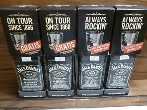 4 x Jack Daniels Set 0,7 inklusive 4xRock Gläser No 1;  No 2; No 3; und No 4; -