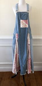 New Free People We The Free Skylar Skirtall Denim Dress Size Small Rare $228