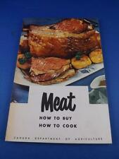 MEAT HOW TO BUY HOW TO COOK BOOK RECIPES CHARTS LAMB PORK VEAL BEEF 1967
