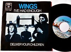 WINGS I've Had Enough VINYL 45 DUTCH Beatles Paul McCartney RARE 1978 Record NM