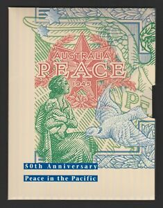 1995 PEACE IN THE PACIFIC PACK - INCLUDES SET OF STAMPS; 1d Coin; Numbered. MNH.
