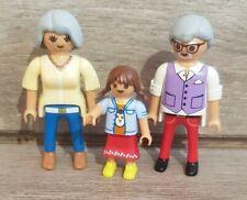 Playmobil Figuren Oma Opa Enkel Familie