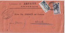 ITALIA 1954 1L LAVORO +12L TURISMO SU LETTERA DA ARPAISE BENEVENTO  PER USCIO