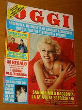 OGGI 1985/13=PAOLO MATTHIAE=PATTY BRARD=SANDRO SACCUCCI=CATHERINE PIRONI=OXA A.