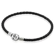 NEW! AUTHENTIC PANDORA BLACK Single Leather Bracelet Small (590705CBK-S1) 6.9 in