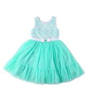 NEW Jona Michelle Girls Chevron Dress - Mint Chevron - Various Sizes