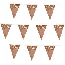 Rose Gold Bunting Baby Shower Banner Garland Birthday Party Decorations