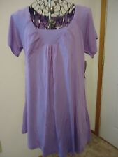 NWT Womens Large Three Seasons Maternity Lavender SS Tunic Knit Top