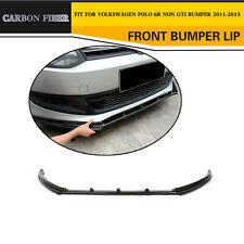 Carbon Fiber R Style Front Lip Chin Body Kits Fit for VW Polo 6R Non GTI Bumper