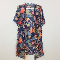 LuLaRoe Shirley Women's Top Cardigan Size M Kimono Coverup Sheer Multicolor