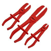 3pc HOSE PLIERS PIPE CLAMPS BRAKE PLIER FREE HANDS PLASTIC RADIATOR BRAKES PIPES
