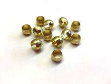 Ф8mm Hole Diameter Brass Olive Barrel Compression Sleeve Ferrule Ring 12pcs