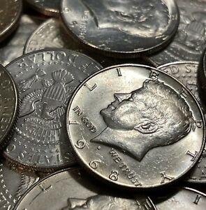 (1) SILVER Kennedy Half Dollar 40% Silver Half Dollars Uncirculated 1965-1969