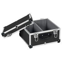 CD Koffer Alukoffer Werkzeugkoffer schwarz 40 CD´s abschließbar