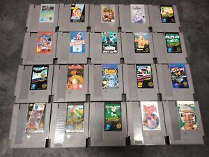 20 Nintendo NES Game Lot Rad Racer, Top Gun, Bad Dudes, Karate Kid, Spy Hunter