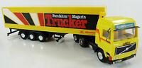 Volvo Koffersattelzug Fernfahrer Trucker Magazin Herpa 1:87 H0 ohne OVP [GE5-B2]