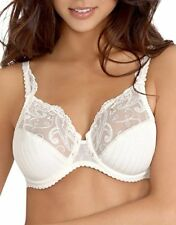 NWT Chantelle 3371 Cachemire Full Support BRA 38D White Sexy Lace STAIN SIZE TAG