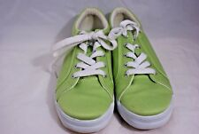 St Johns Bay Women's Size 6.5 M Lime Green Canvas Sneakers Slip On Comfort Shoes