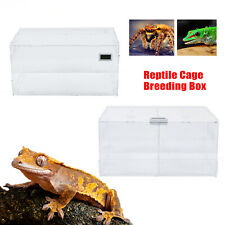 Climbing Pet Box w/ Thermometer Reptile Insect Spider Lizard Breeding Tank