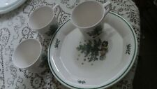 Nikko Christmastime Happy Holidays 2 Snack Plates with 3 cups                 a9