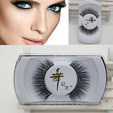100% Real Mink Long Natural Thick Makeup Eye Lashes False Eyelashes Korean UNO