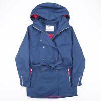 Vintage HELLY HANSEN Blue Hooded Belted Rain Jacket Women's Size Large