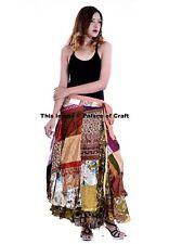 Indian Women Patchwork Rapron Cotton Long Skirt Wrap Around Skirt Bohemian Wraps