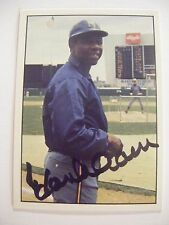 HANK AARON signed BREWERS 1975 SSPC baseball card AUTO Autographed BRAVES 1976