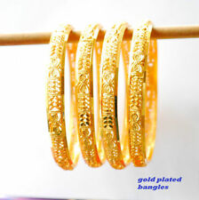 Gold Women Bangles Jewellery without Stone