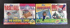 Lot of 2 1996 TOPPS Baseball + Football Factory SEALED Sets Namath & Mantle