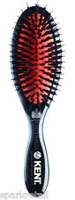 Kent Small Black Natural & Nylon Bristle Cushion HAIR BRUSH Midnight Ruby CSMS