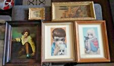 5 Wall Art Pieces and paintings including Walter/Margaret Keane Big Eyes