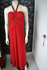 JOSEPH RIBHOFF RED LONG EVENING DRESS WITH EMBROIDERY UK SIZE 8 USA SIZE 6 USED