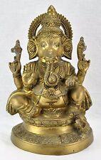 Antique Ganesh Hindu Elephant God of Success Bronze sculpture (BI#MK/170819)