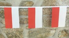 Poland Flag Polyester Bunting - Various Lengths