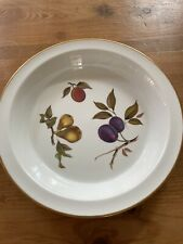 "Royal Worcester Evesham Gold 10.5"" Pie Plate"