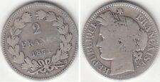 Monnaie Française 2 francs argent Cérès 1871 K