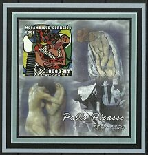 Mozambique Pablo Picasso The Kiss Painting Naked Nude Women Imperf Proof ** 2002