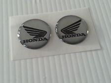 2 Adesivi HONDA 3D argento e NERO 3D resinati Hornet CBR CBS CB NC - 5 cm