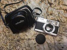 Minolta Hi-Matic 9 SLR 35mm Camera & Minolta Rokkor PF 1:1.7 Lens Made in Japan