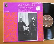 HLM 7015 Yehudi Menuhin Brahms Violin Concerto Furtwangler NM/VG Mono EMI