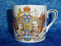 King George V & Queen Mary Silver Jubilee VINTAGE CUP by Empire 1910-35 Royal