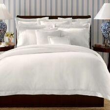 Nip Ralph Lauren Twin Duvet Comforter Cover Palmer Tuxedo White Cotton 464Tc