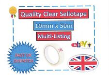 Clear 19mm X 50m Sellotape Postal Packing Tape Cellotape Pick Quantity Ws1